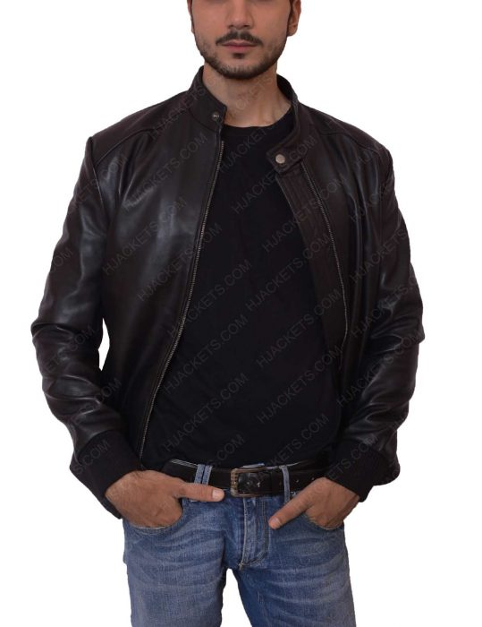 david beckham black bomber jacket