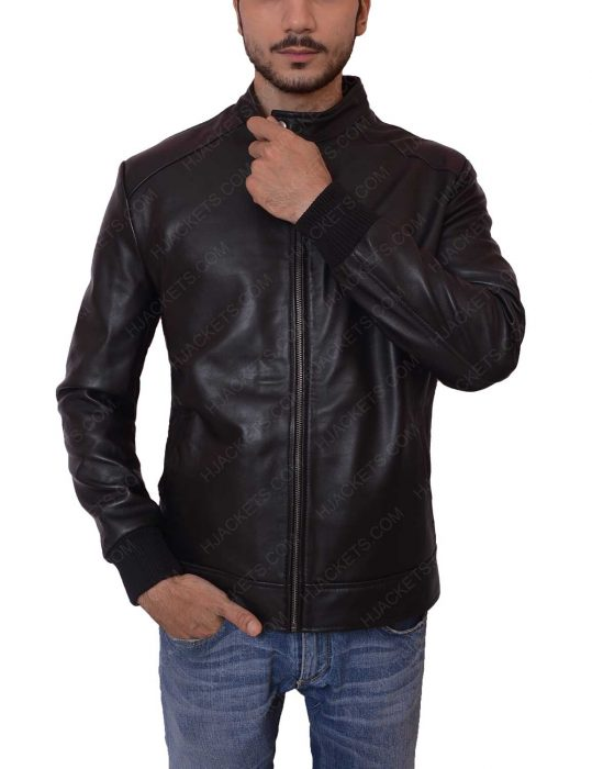 david beckham black leather jacket