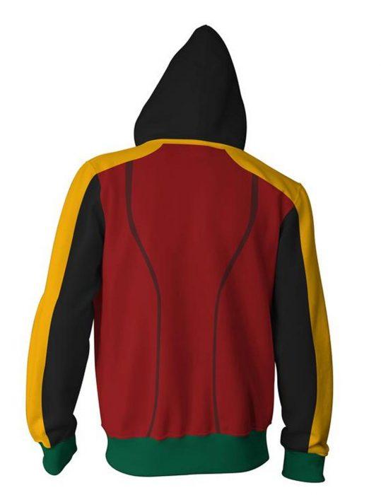 robin damian wayne zip up hoodie