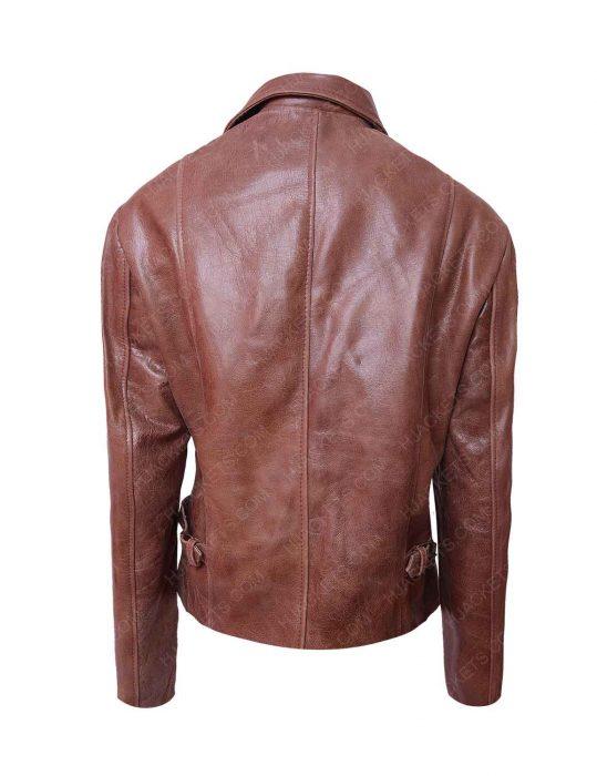 jennifer lopez brown distressed jacket