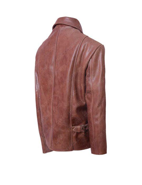 jennifer lopez distressed brown leather jacket