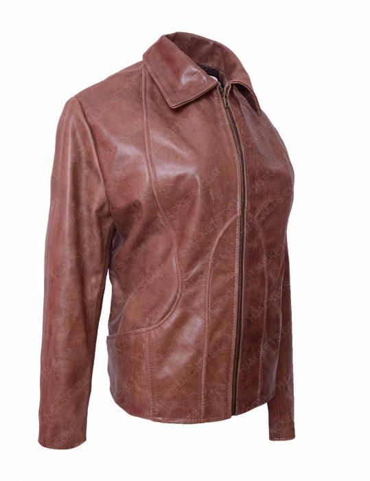 jennifer lopez distressed leather jacket