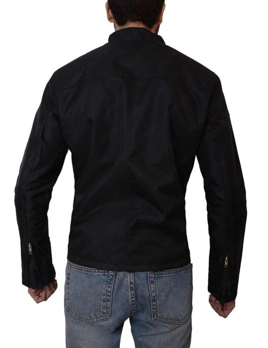 le mans steve mcqueen grand prix black jacket