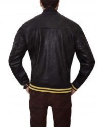 mens slim fit black bomber jacket