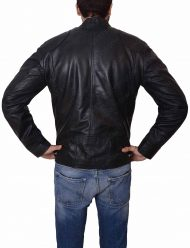 mens slimfit leather jacket