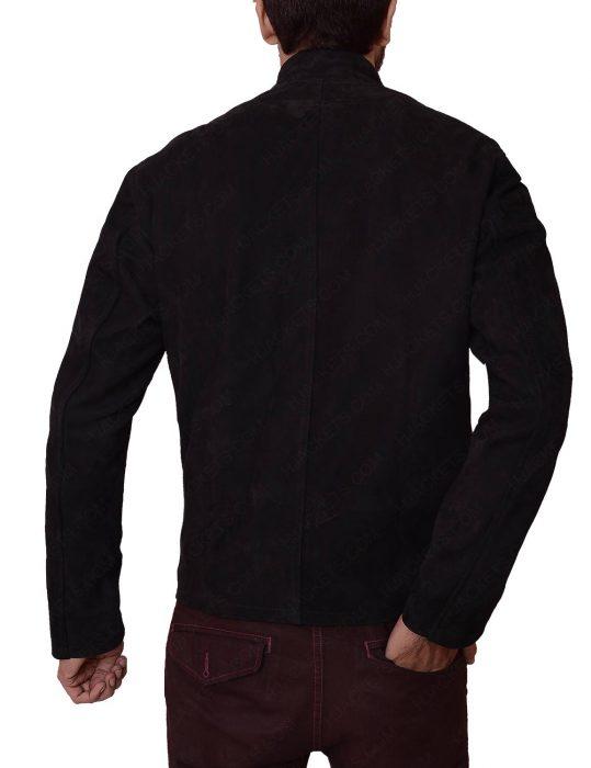 supernatural season 11 jensen ackles black leather jacket