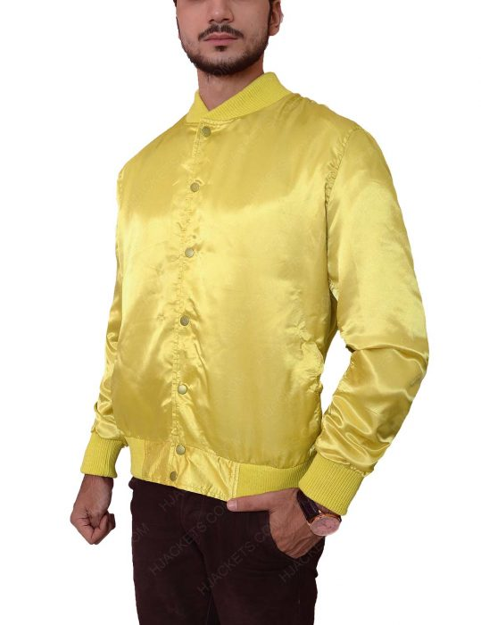 the warriors yellow satin electric eliminator jacket