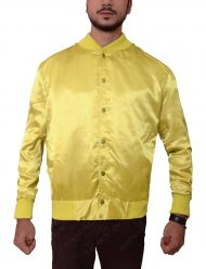 the warriors yellow satin jacket