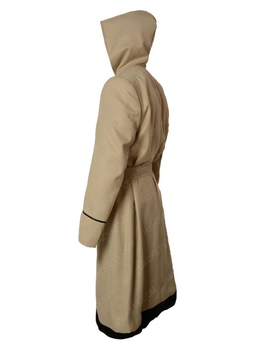 13th doctor who white hooded rainbow coat