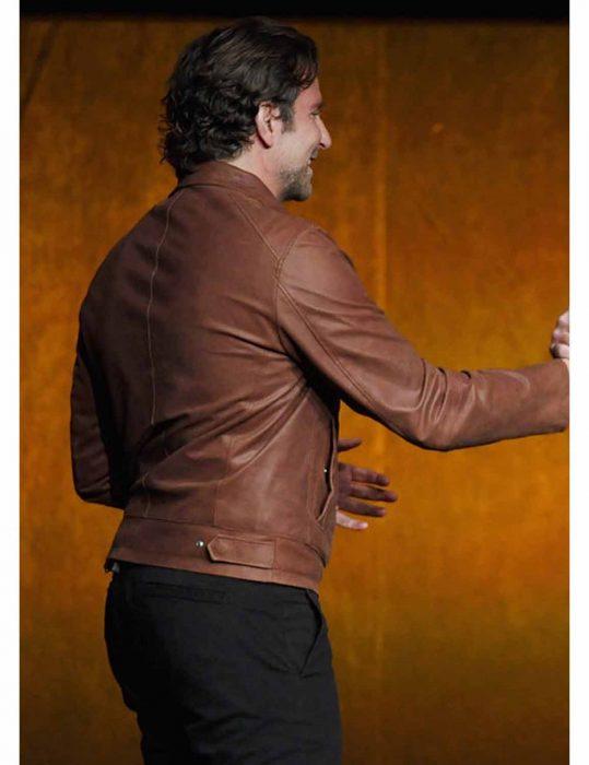 Jackson Maine brown leather jacket