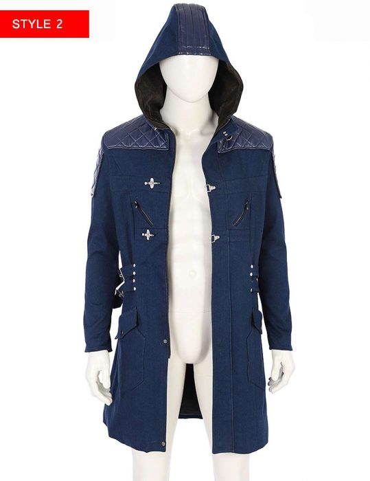 Devil May Cry 5 Blue Trench Coat