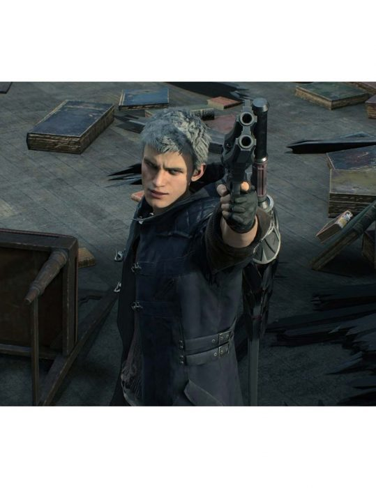 Dmc 5 Nero Leather Coat