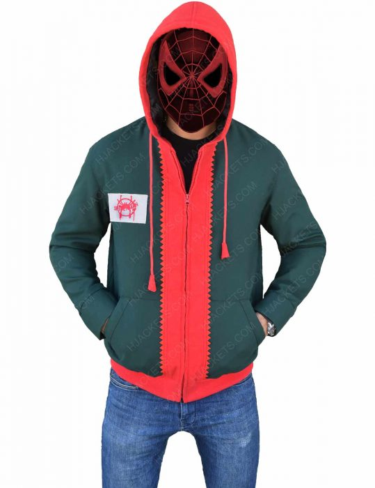 into the spider verse miles morales hoodie