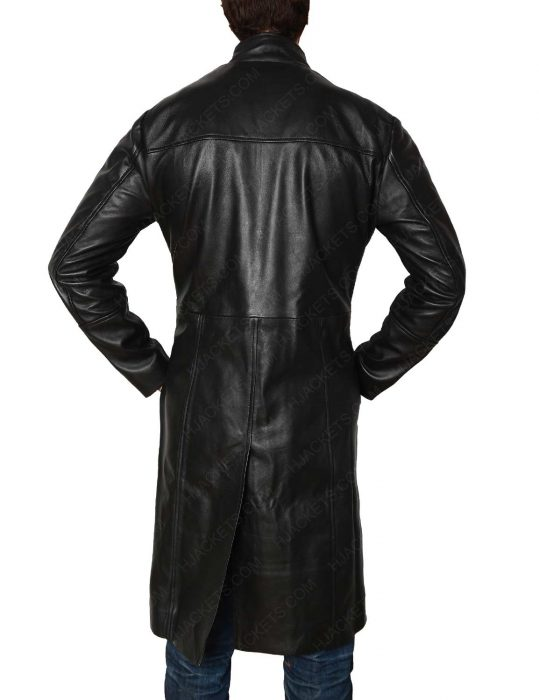 matrix leather coat