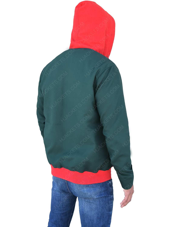 b6d7ed8b into the spider verse spiderman hoodie · miles morales green hoodie