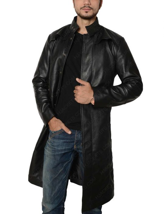 neo matrix trench coat