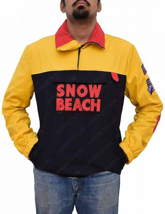 snow-beach-yellow-cotton-jacket