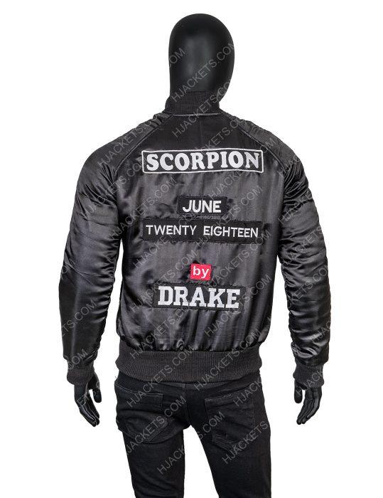 Drake Scorpion Black Bomber Jacket