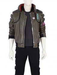 cyberpunk2077 mens leather jacket