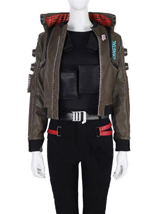 cyberpunk2077 womens leather jacket