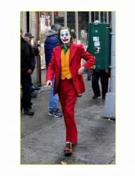 Joker Origins Joaquin Phoenix Red Cotton Coat