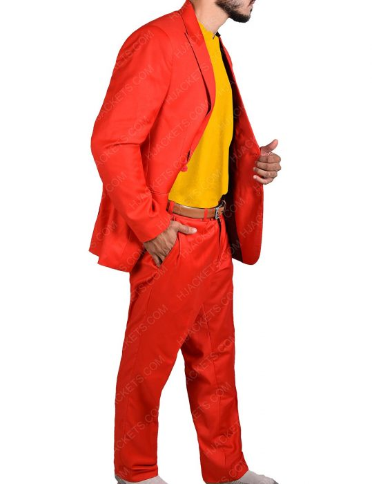 Joaquin Phoenix Joker Red Cotton Suit