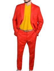 Joaquin Phoenix Red Cotton Suit
