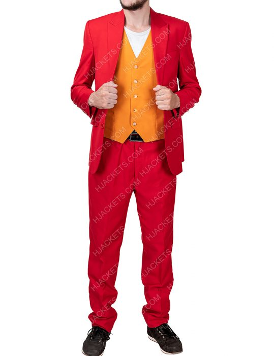 Joaquin Phoenix Red Suit