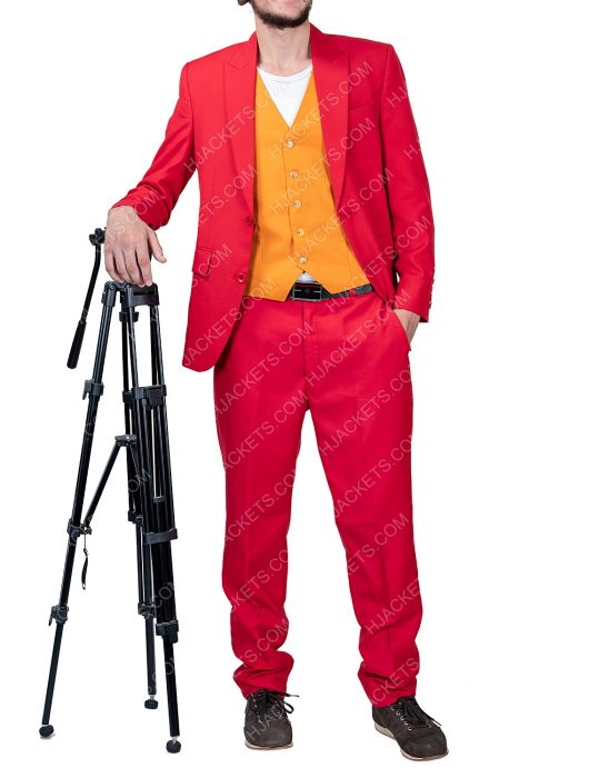 Joker Joaquin Phoenix Red Cotton Suit