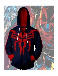 Spiderman Red and Blue cotton Hoodie