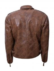alligator-brown-leather-jacket