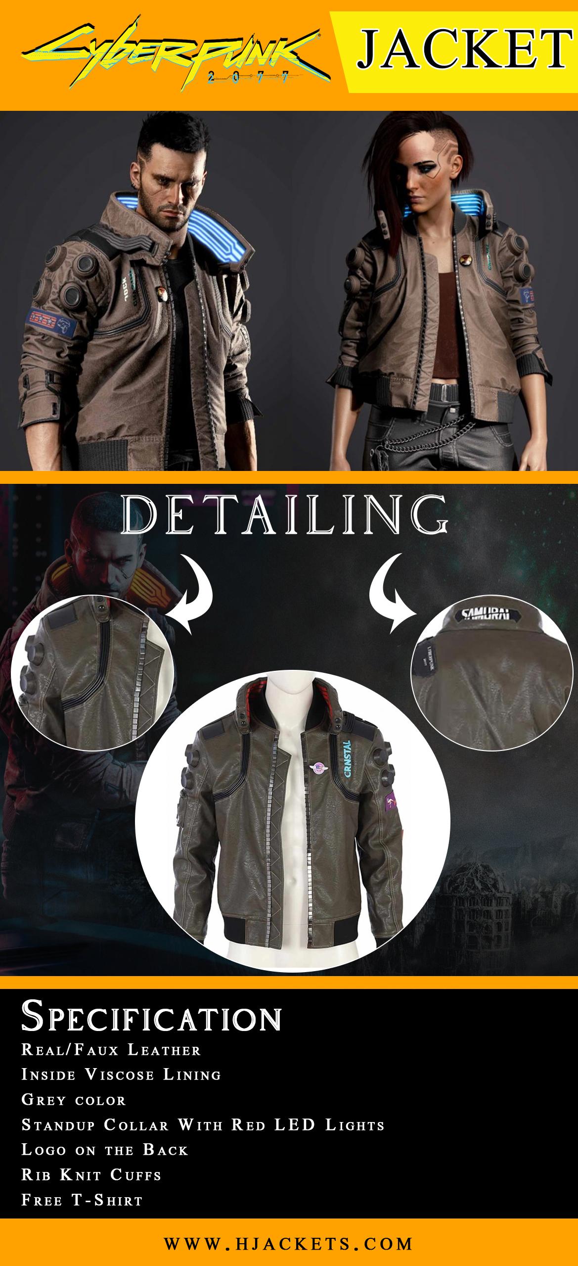 Cyberpunk Jacket Infographic