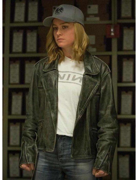 Captain Marvel Motorcycle Jacket