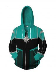 team captain marvel green hoodie