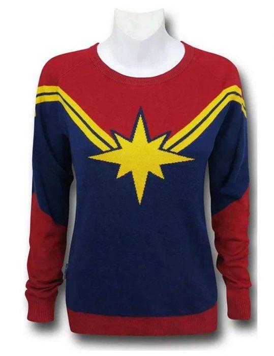 captain marvel sweater
