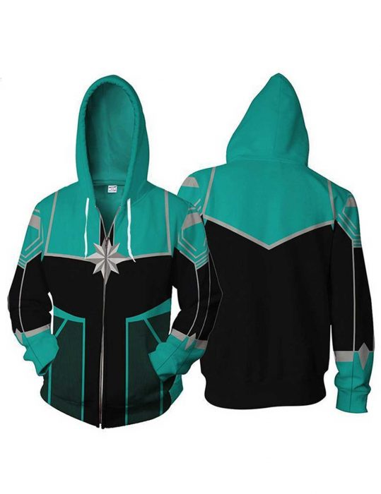 Team Captain Marvel Green Hoodie for Sale