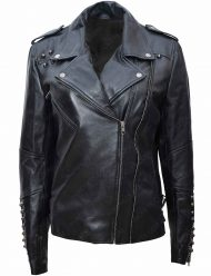 sharknado 6 nova black leather jacket