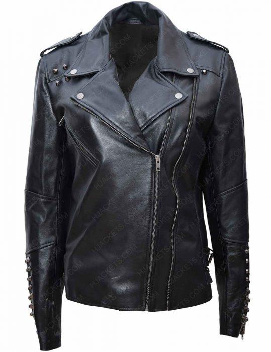sharknado 6 nova black leather jacket