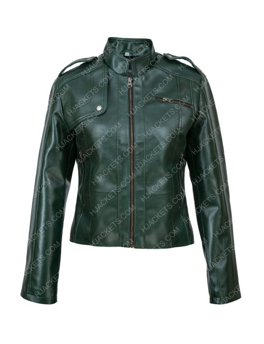 Green Faux Woman Jacket