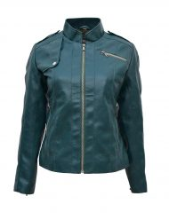 green-faux-moto-leather-jacket