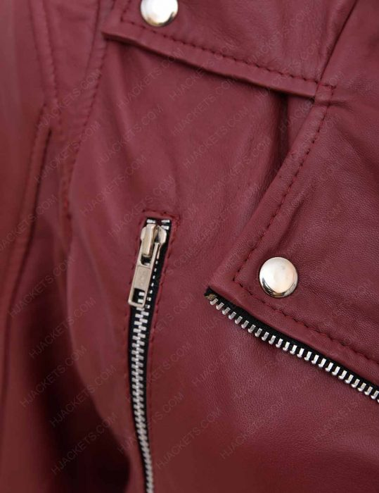 women-maroon-jacket