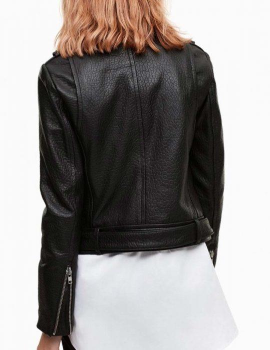 Iris West Black Leather Jacket