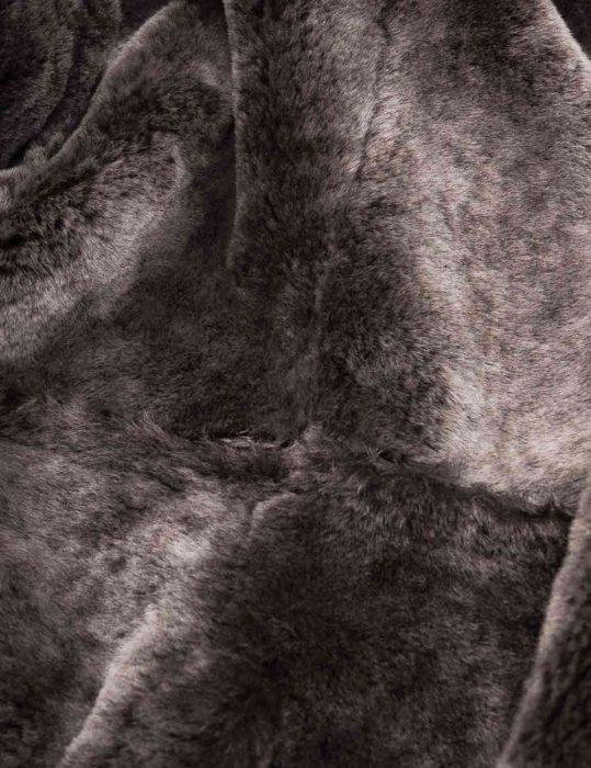 Mens Shearling Black Coat