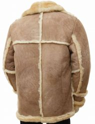 mens sand sheepskin coat