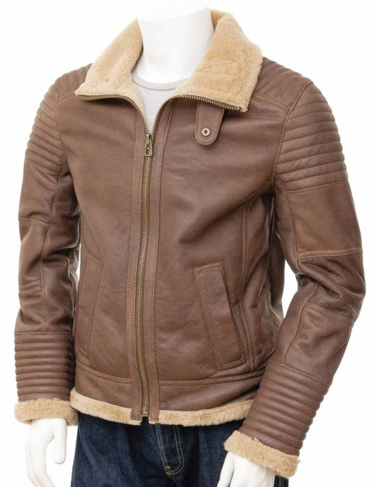 Mens Sheepskin leather Jacket