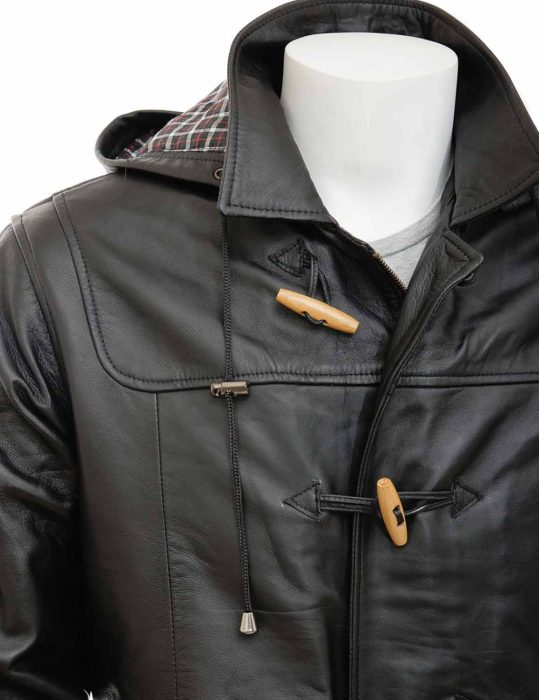 Men's Duffle leather Coat