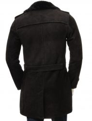 mens shearling trench coat