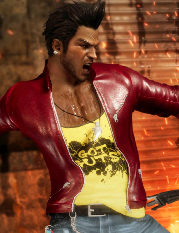 Diego Dead Or Alive 6 Jacket Biker Red Leather Jacket