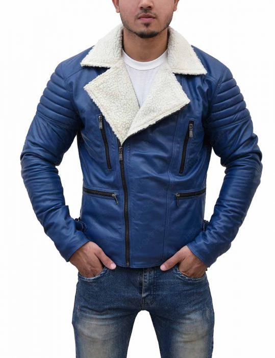 mens-asymmetrical-shearling-blue-jacket
