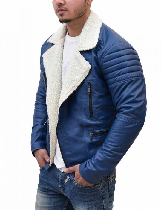 mens-asymmetrical-shearling-blue-leather-padded-jacket